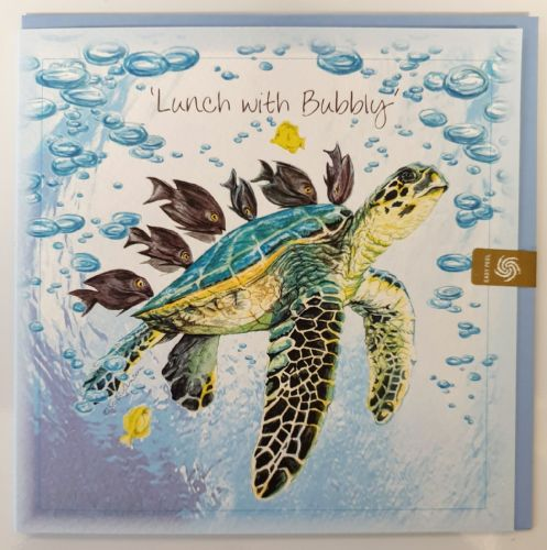 Card - Lunch with bubbly